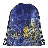 Live After Death Baggins' World – Fashion Drawstring Bag Sport Gym Bag Storage Bag Classic Beam Mouth Back Bag Party Gift Bag Outdoor Portable Rucksack für Männer Frauen