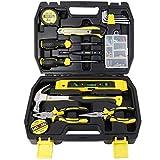 DOWELL Werkzeugset Werkzeugset 116-teilig Haushalt Werkzeug Set Home Handwerkzeug Kit mit Werkzeugkasten Aufbewahrungsbox HYT116