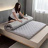 LIMIAO Japanische Futon-Tatami-Kissen-Matratze, tragbare Schlafsaal-Klappmatratze, weiche, rutschfeste Studentenmatratze (90x200cm),3s,90x200cm (35 * 79 inch)