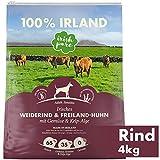 Irish Pure Adult Weiderind & Freiland-Huhn mit Kelp-Alge - Trockenfutter für Hunde, Hoher Fleischanteil, Vitamine, Getreidefrei, Sensitiv, Hundetrockenfutter, Hundefutter für alle Rassen (4kg)