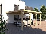 Anlehncarport Carport RHÖN IV 400x600cm KVH Konstruktions-Vollholz Bausatz Anlehn Carport
