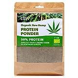 LOOV Rohes Bio Hanfproteinpulver, 1 kg, 50% Protein, konservierte Nährstoffe, lecker nussiger Geschmack, Bio-Anbau im nordischen Klima, pflanzlich veganes Proteinpulver, ohne Gentechnik