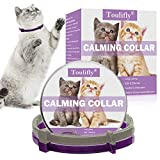 Toulifly Beruhigendes Halsband, Katzenhalsband zur Beruhigung von Angst und Aggression, Pheromonen für Katzen und Katzen, lindert Angstzustände, Konstante Beruhigung -2 Pack
