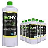 BIOHY Teppichreiniger für Waschsauger (9x1l Flasche) | geeignet für alle Waschsauger | entfernt Flecken und Schmutz mühelos | Reinigung und Pflege in nur einem Arbeitsgang