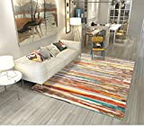 Liveinu Modern Teppich mit Anti-Rutsch Gedruckt Unterstützung Abwaschbarer Kurzflor Teppich Fußmatten für Wohnzimmer, Esszimmer, Schlafzimmer oder Kinderzimmer 120X160cm 1450-10