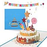 Hererfun 3D Pop Up Grußkarten Geburtstag, Geburtstagskarte Lustig, Geburtstagskarten mit Umschlag Papier Cut, Geburtstagsgrußkarten für Männer Frauen Kinder, Geschenk für Freunde, Familie, Liebhaber