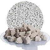 Schicker Mineral Kalksplitt Yellow Sun 25 kg Verschiedene Größen ideal zur Gartengestaltung, Beiger Naturstein Splitt (Kalk Splitt, 16-32 mm)