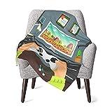 Baby-Decke mit Gaming-Guy-Motiv, flach, für Neugeborene, Jungen, Mädchen, weiches Geschenk