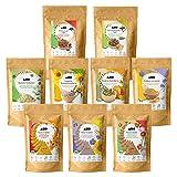 AHO Kennenlern Paket | Mit allen AHO Produkten zum Probieren | 9 Tüten = 1,1kg | Bio, Vegan und Plastik