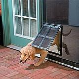 Namsan Hundeklappen Katzenklappe für Fliegengittertür Einfach zu Installieren Abschließbar Innengröße 40 cm x 30