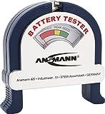ANSMANN Battery Tester / Zuverlässiges Batterie- & Akkutestgerät zum Anzeigen der Kapazität / Kapazitätsanzeige für Akkus Batterien & Knopfzellen