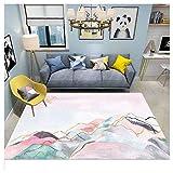 GUOCU Designer Teppich Patchwork Teppich Vintage Abstraktes Muster Teppich Wohnzimmer Kurzflor Terrassen Teppich Einzigartiger Stil,Bunt28,160x230cm