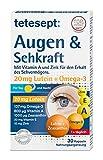 tetesept Augen & Sehkraft – Nahrungsergänzungsmittel mit Vitamin A und Zink für den Erhalt des Sehvermögens – 30 Kapseln