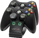 Venom Twin Docking Station für Xbox 360 - Ladestation für Xbox 360 Controller inklusive 2 Zusatz Akkus