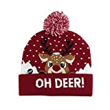 Deckel Mütze Beanie Hut Kappe Cap Led Light Weihnachtsmütze Gestrickte Mütze Weihnachtsmütze Party Wärme Für Erw