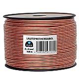 HB-Digital Lautsprecherkabel 2 x 4mm² x 100m CCA-Innenleiter PVC- Dielektrikum (transparent) Speaker Cable