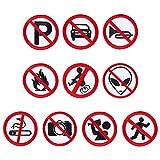 GORGECRAFT 10 PCS Selbstklebende Aufkleber Rauchen verboten, No Tooting Symbol Sticker Signs Aufnähen von Patches Für Den Innen- Und Außenbereich Business Business Und Büro, 2.83 Zoll Im Durchmesser