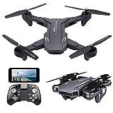 Teeggi VISUO XS816 4K Drohne mit Kamera für Kinder FPV WiFi Faltbare RC Quadrocopter Anfänger 120°Weitwinkel/3D Flips/Gravitationssensor/APP-Steuerung/KopflosModus/Höhe Halten