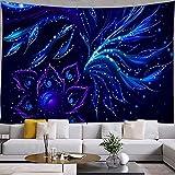 Gehirn Wandteppich abstrakte Hippie Blume Wandbehang Wandteppich Wohnzimmer Schlafzimmer Schlafsaal Heimtextilien A5 100x150cm