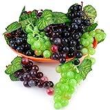 JUSTDOLIFE Künstliche Trauben Deko künstliche Früchte Tischdekoration Obst hängende O