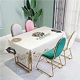 CCBAO Weiße Tischdecke Haushalt Quadratische Tischdecke Teetischdecke Wohnzimmer Dekoration Tischdecke Multifunktionale Tischdecke 3D-Effekt 140x240cm