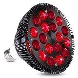 Rotlichtlampe, 54 W Rote LED Lichttherapie Lampe, Rot, 660 nm und 850 nm im Nahen Infrarot, LED-Lampen zur Reparatur von Hautproblemen und Schmerzlinderung