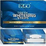EZGO White Stripes Zähne Bleaching Stripes, Teeth Whitening Strips Zahnaufhellung Stripes für empfindliche Weiße Zähne, Peroxidfreie Zahnaufhellungs kits, mit Advanced No-Slip Technology, 28 Streifen