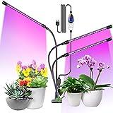 Aerb Pflanzenlampe LED, 48W Pflanzenlicht Pflanzenleuchte Wachstumslampe Vollspektrum 3 Beleuchtungsmodi 6 Lichtstärken Wachsen licht mit Zeitschaltuhr für Zimmerp