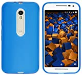 mumbi Hülle kompatibel mit Motorola Moto G3 Handy Case Handyhülle, transparent blau