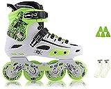BESTPRVA Roller Skates Inline Skates, Erwachsene Männer und Frauen einreihig Skates Anfänger Roller Skates 2 (Color : White, Size : EU 41/US 8/UK 7/JP 25.5cm)