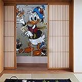 Feinilin Donald Duck Vorhang 86,4 x 142,2 cm modische High-End Küche Wohnzimmer Dekoration Wärmedämmung Druck Privatsphäre Geschlossenes Licht