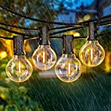 Lichterkette Außen - LEHXZJ 10,3M 25+5er G40 Glühbirnen LED Lichterkette mit Stecker IP65 Outdoor Lichterkette für Innen, Balkon, Garten, Hochzeit, Zimmer, Festival, Warmweiß 2700K
