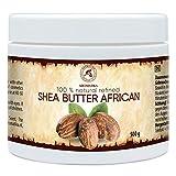 Shea Butter 500g - 100% Rein & Natürlich - Raffiniert Sheabutter - Butyrospermum Parkii - Afrikanisch - Körperbutter - für Körperpflege - Karité Body B