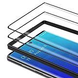 Bewahly Panzerglas Schutzfolie für Samsung Galaxy Note 10 [2 Stück], 3D Curved Full Cover Panzerglasfolie HD Displayschutzfolie 9H Härte Glas Folie mit Positionierhilfe für Samsung Note 10 - Schwarz