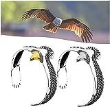 Energy Style ⅩⅢ Armband Eagle, 925 Sterling Silber Eagle Manschettenarmband, verstellbarer Armreif mit offenem Ende, Vintage Rock Punk Armreif Manschette Armband für Männer Frauen (2Stk)