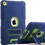 BENTOBEN iPad Air 2 Hülle, iPad Air 2 Schutzhülle, iPad Air 2 Tablet Tasche mit Ständer Heavy Duty 3 in 1 Hybrid Case PC Silikon Cover rutschfest stoßfest Hülle für iPad Air 2 (A1566 / A1567) B
