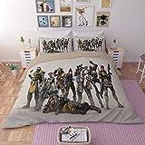 YUEWEIWEI Apex Hero Duvet Cover Grosse, 3D Held Beliebte Spiel Drucken Bettwäsche, Mikrofaser-dreiteiliger Anzug, Teenagerjungen (Size : 135x200cm)