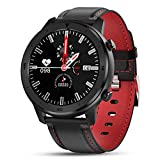 Smartwatch für Damen und Herren Smartwatch 13 Zoll Allrad Voller Touchscreen Schrittzähler Pulsmesser Android IOS N Smart Armband-F