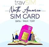travSIM T-Mobile Prepaid SIM-Karte USA, Kanada & Mexiko - 50GB US CA & MX - 4G / LTE Daten, Unbegrenzte Nationale Sprachanrufe & SMS - Gültig für 21 Tag