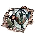 Bud Spencer® - Das Krokodil und sein Nilpferd - Terence Hill - Wandtattoo (50x70cm)