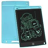 WOBEECO LCD Schreibtafel Kinder 8.5 Zoll, Elektronisches Schreibtablet Mit Hellerem Bildschirm, Löschbarer Und Anti-Clearance-Funktion,Elektronischem Kindertablett-Schreibblock(Blau)