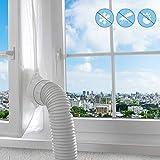Fensterabdichtung für Mobile Klimagerät,Klimaschlauch Fensterabdichtung für Klimaanlagen Trockner Luftentfeuchter,Zubehör Klima Fensterabdichtung Dachfenster Hot Air Stop für Fenster (400CM)