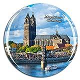 Weekino Deutschland Magdeburg Kühlschrankmagnet 3D Kristallglas Touristische Stadtreise City Souvenir Collection Geschenk Starker Kühlschrank Aufkleber