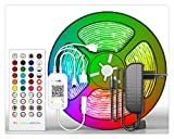 RongWang Bluetooth LED-Lichtleiste RGB SMD 2835 5050 Flexibles Farbband for RGB-LED 5M 10M 15M Band Bluetooth-Steuerung (Color : 5050 Non Waterproof, Size : 20M)