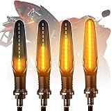 FEZZ LED Blinker Motorrad Universal, Bernstein, 4 Packung