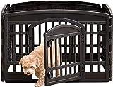 Iris Ohyama, Welpenauslauf / Hundelaufstall, Tür mit Riegel, Clips für einfache Montage und Demontage, wetterfest, für Hund - Pet Circle CI-604E
