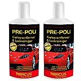 ABACUS 2X 500 ml PRE-Poli- Kratzerentferner & Lackreiniger für Auto (7077)