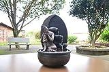Zen'Light Brunnen Buddha Grace, Harz, Bronze, 26 x 26 x 40 cm