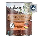 colourPlus® Holzschutzlasur (750ml, Eiche) seidenglänzende Holzlasur Außen- Holz Grundierung - Holz Lasur - Holzlasur Aussen - Made in Germany