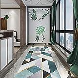 HERILIOS Teppich Läufer Flur- Kücheläufer Teppichläufer Geometric, rutschfest Waschbar, Breite 40cm/60cm /80cm/100cm/120cm,Anpassbare (Größe : 120x500cm)